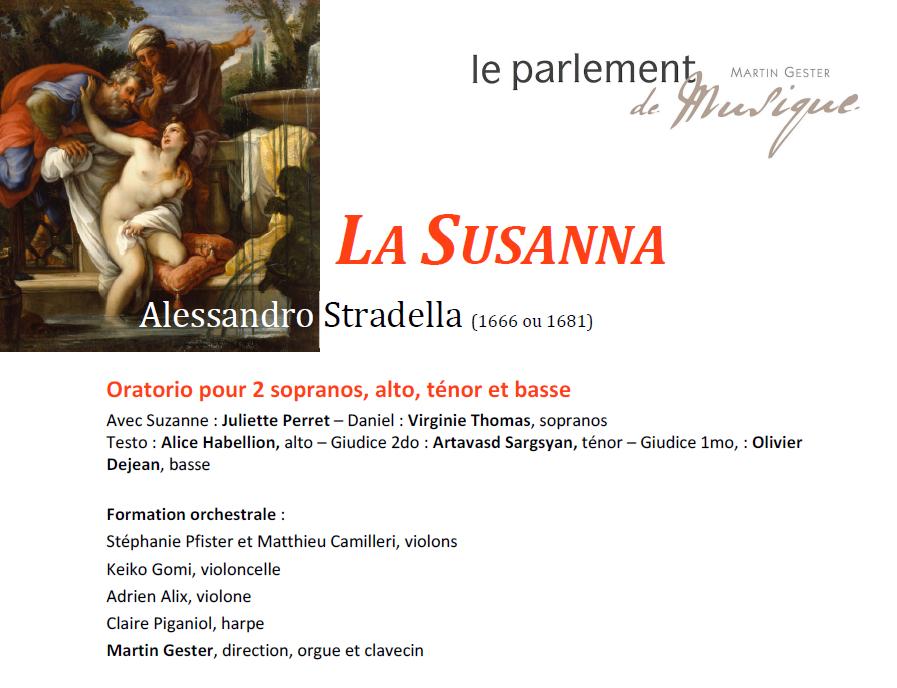 La Susanna, Alessandro Stradella (1666 ou 1681)