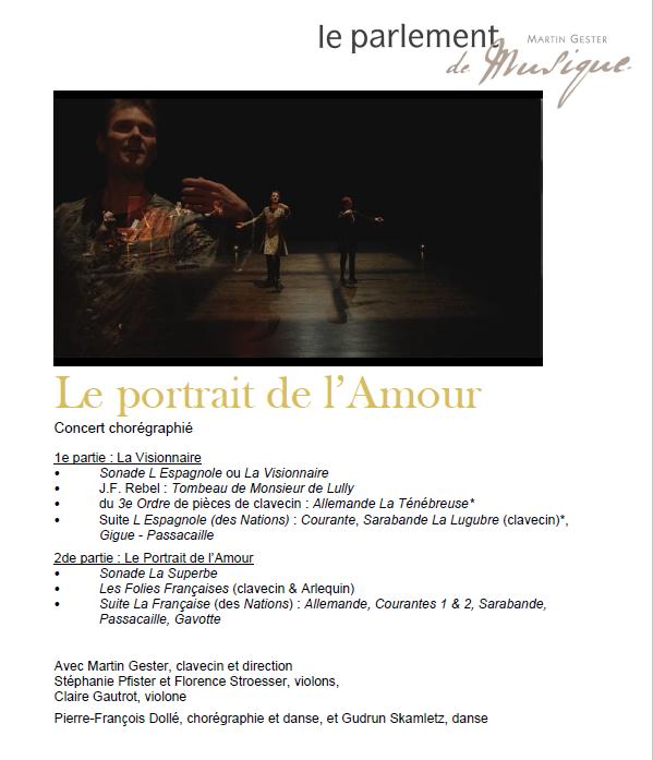 François Couperin : Le Portrait de l'Amour, concert dansé